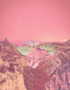pink sky, technicolor canyon
