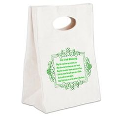 Irish Blessing Canvas Lunch Tote > Lunch Bags > Atteestude T-Shirts And Gifts  #school supplies