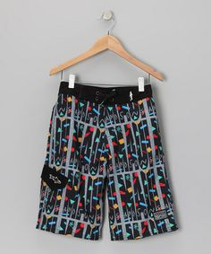 Black Maui Elements Boardshorts - Boys by Maui and Sons #zulily #zulilyfinds
