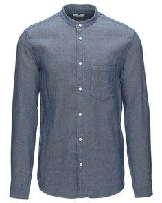De sejeste NN.07 Devon langærmet skjorte NN.07 Skjorter til Herrer i behageligt materiale