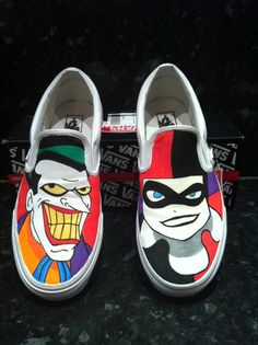 harley quinn and joker shoes<3