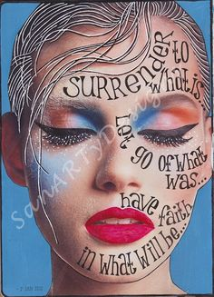 Art Journaling. I like the use of words inside an image that has been cut from a magazine and altered.