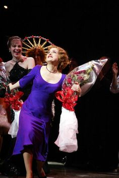 Bernadette Peters takes her bow on opening night of the revival of Gypsy on Broadway at The Shubert Theatre May 1, 2003 in New York City.