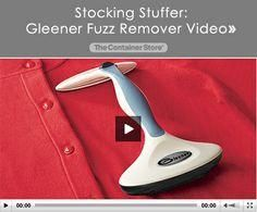 Gleener Fuzz Remover Video - I would love one of these!