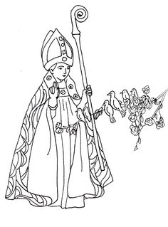 st valentine catholic coloring page feast day is february 14th - St Patrick Coloring Page Catholic