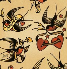 Sailor jerry swallow tattoo flash