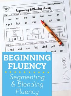 Beginning Fluency: Segmenting & Blending (for students mastering nonsense word fluency)