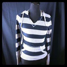 Striped top Striped long sleeve hoodie Tops Sweatshirts & Hoodies