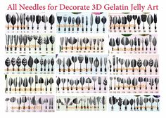 All Needles For Decorate 3D Gelatin Jelly Art - Select Needed In 150 Needles