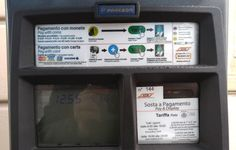 Street parking fee in Milan city centre, €2 /h