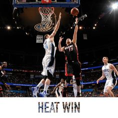 HEAT WIN!  Your Miami HEAT overcome a 15-point deficit to defeat the Orlando Magic 108-101!  Chris Bosh: 24 points and 10 rebounds Dwyane Wade: 24 points (10-10 FT) and 6 assists Goran Dragic: 22 points, 6 rebounds and 4 assists Gerald Green: 15 points (8 in the 4th quarter)  12/26/2015