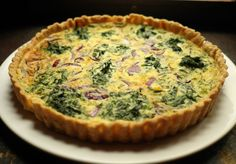 Klasicky Quiche Quiche Recipes, Bread Recipes, Chicken Recipes, Cooking Recipes, Quiche Lorraine, Some Recipe, Kitchenette, Diy Food, Fall Recipes
