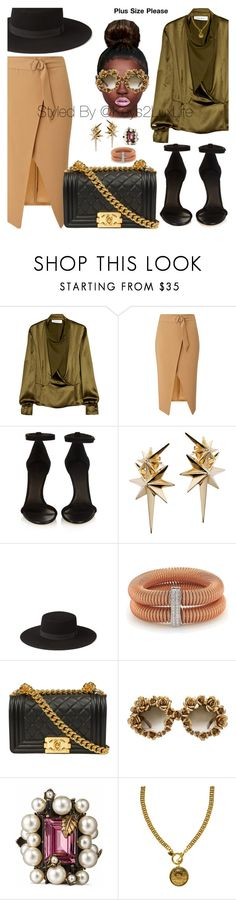 """Plus Size Please"" by keys2luxlife on Polyvore featuring Yves Saint Laurent, Miss Selfridge, Isabel Marant, Ludevine, Alor, A-Morir by Kerin Rose, Gucci and Chanel"