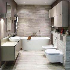 A simple and elegant white bathroom is really everlasting. New Bathroom Designs, Modern Bathroom Tile, Gray Bathroom Decor, Contemporary Bathroom Designs, Minimalist Bathroom, Modern Bathroom Design, Bathroom Interior Design, Bathroom Ideas, Contemporary Shower