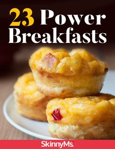 This compilation of 23 Power Breakfasts is surely to keep you going all day. Power Breakfast, What's For Breakfast, Breakfast Dishes, Savory Breakfast, Clean Eating Slow Cooker Recipe, Clean Eating Recipes, Top Recipes, Skinny Recipes, Healthy Recipes