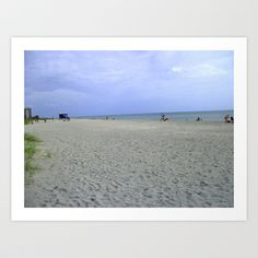 Free Shipping! Vacancy on the Beach Art Print by imagenthat - $22.88
