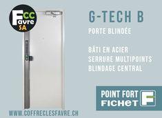 Porte blindée G-TECH B Solution pour sécuriser vos accès industriels et professionnels. #PORTE #GTECH #SECURITE #POINTFORT #FICHET #GENEVE G Tech, Solution, Medicine Cabinet, Lockers, Locker Storage, Locker, Closets, Cabinets, Cubbies