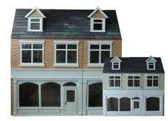 The Large Shop is a Ready to Assemble 12th Scale Dolls House Kit from Hobbies £69.99