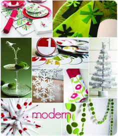 modern Christmas mood board