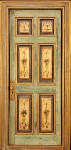 Dollhouse Miniature Door Tommy Bahama Inspired