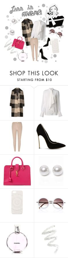 """""""#13"""" by tastemystyle ❤ liked on Polyvore featuring Zara, Givenchy, River Island, Casadei, Yves Saint Laurent, Nouv-Elle, Garance Doré, With Love From CA, Chanel and Cynthia Rowley"""