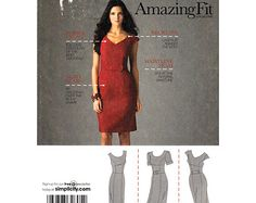 Vestido de las mujeres del patrón Simplicity 2648 Delgado Normal & Curvy increíble Fit Plus Tamaño 16 a 24 SIN CORTAR