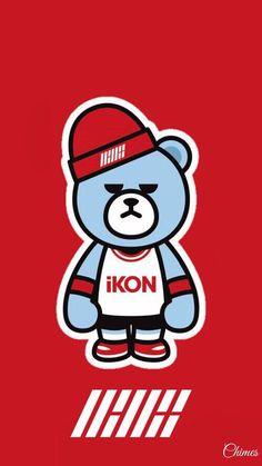 Krunk bear X iKON wallpaper