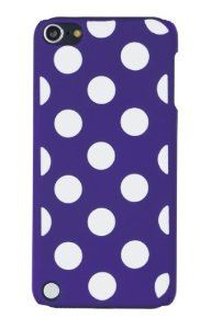 Purple Polka Dot Embossed Hard Case for Apple iPod Touch 5, 5G (5th Generation) - Includes DandyCase Keychain Screen Cleaner [Retail Packaging by DandyCase],$5.99