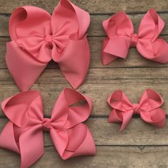 f976ffcc4d1d Coral Bow - Coral Hair Bow - 6in Hair Bow - Coral Bow - Hair Bow - Boutique  Hair Bow - Solid Color - Bow - Coral Rose - Size Options