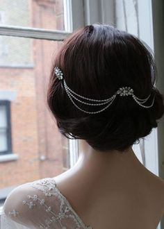 Hair chains for vintage styled wedding hair