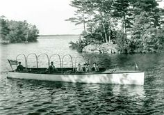 Agnes, the steam launch, at Chaffey's Locks in 1905