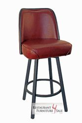 GLADIATOR Wine 5-Inch Thick Bucket Seat Restaurant Bar Stool w/ Casino Style PVC  sc 1 st  Pinterest & GLADIATOR Contemporary Brown / White Stitch Restaurant Bucket Seat ... islam-shia.org