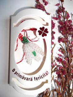 Martisor Ghiocel, de la Simbioza Apiplant 8 Martie, Romania, Wreaths, Traditional, Spring, Crafts, Home Decor, Manualidades, Decoration Home
