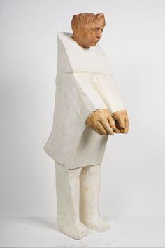Francisco Leiro Neon Words, Wood Sculpture, Wood Carving, Art Dolls, Sculpting, Contemporary, Portrait, White Man, Mascara