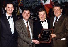 Fontanini wins Roman's Vendor of the Year Award in 1991. Pictured from left to right: Emanuele Fontanini, Mariano Fontanini, Ron Jedlinski, and Ugo Fontanini.