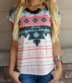 Coral Tribal Top