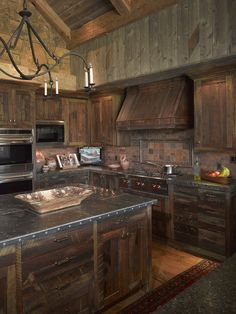 Western Kitchen Design, Pictures, Remodel, Decor and Ideas - page 2 Farmhouse Kitchen Cabinets, Modern Farmhouse Kitchens, Farmhouse Style, Rustic Farmhouse, Rustic Barn, Kitchen Backsplash, Rustic Wood, Rustic Decor, Rustic Chair