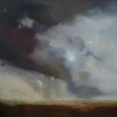 rain in the judean desert ~ oil ~ by christopher burch
