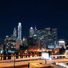 Nighttime in Philadelphia (Photo by @beansauer on Instagram)