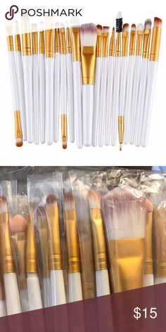20 PIECE MAKE UP BRUSH SET ~ ALL YOU NEED Excellent 20 piece make up brush set. This has all you'll need. Why pay $20 for one brush when you can get an entire set for such a great price? Other colors are available in my Closet. New and direct from the maker.  ❤️ Save 20% when you buy 2+ items in my Closet ❤️  👇🏻👇🏻👇🏻  If you LIKE my Closet, FOLLOW ME to see NEW ARRIVALS   Jewelry accessories popular beach pool summer birthday gift present women vacation cruise date night beach spring…