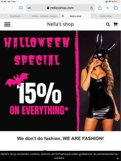 Koden HALLOWEEN anges i kassan Designers, Halloween, Shopping, Fashion, Angel, Moda, Fashion Styles, Fashion Illustrations, Spooky Halloween