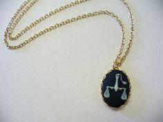 Vintage Zodiac Necklace DEADSTOCK by SHOPHULLABALOO on Etsy, $8.99