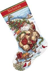click here to view larger image of Santa's Journey Stocking (counted cross stitch kit)