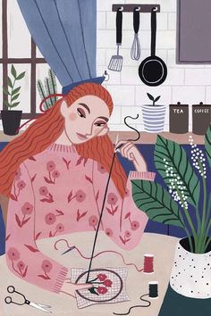 Fashionable illustrated lady by Rachael Dean #illustrationart #illustratedladies