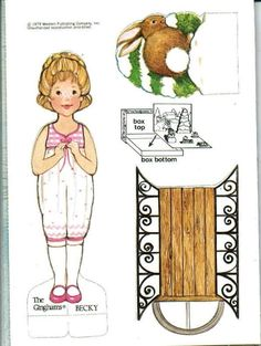 The Gingham Paper Doll Becky (Becky's Winter Carnival)