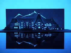 Just in time for Halloween, horror-film enthusiast Marc Hagan-Guirey has made these paper cut versions of famous haunted houses, in a series...