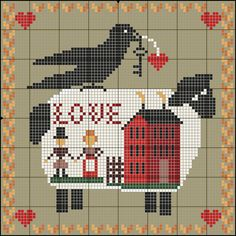 ru / Photo # 177 - My Cross Stitch Design - nurdankanber Sheep Cross Stitch, Free Cross Stitch Charts, Cross Stitch House, Cross Stitch Freebies, Cross Stitch Kitchen, Mini Cross Stitch, Cross Stitch Heart, Cross Stitch Samplers, Cross Stitch Animals