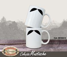 Caneca de cerâmica branca estampada. 300ml R$35,00
