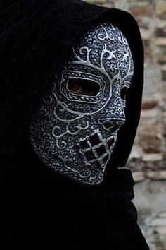 Severus Snape, Draco Malfoy, Bellatrix Lestrange, Lord Voldemort, Raven Mask, Wolf Mask, Slytherin, Larp, Death Eater Mask