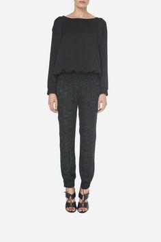 7 Silky blouse - 500zł (125€), Print pants - 500zł (125€)